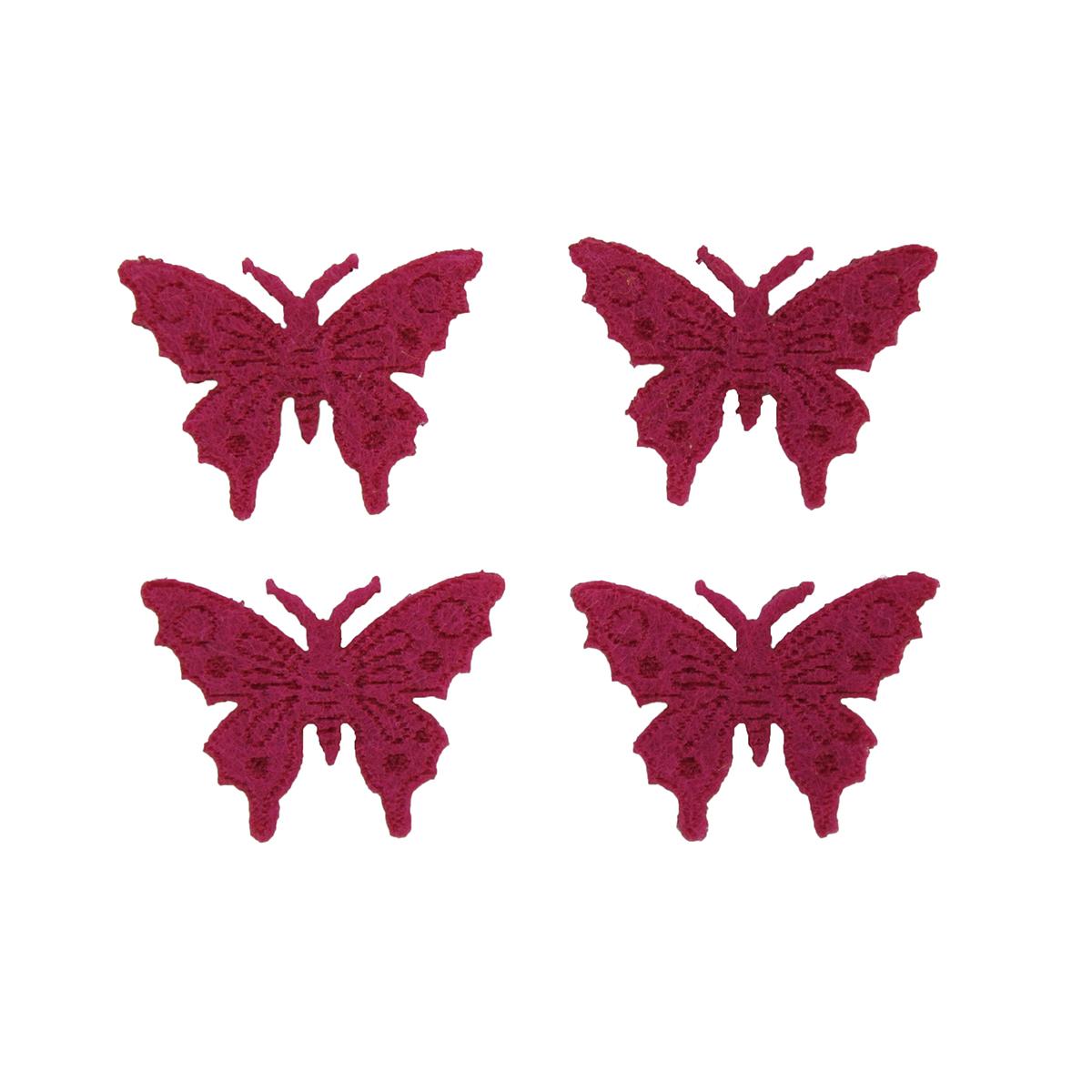 Фигурки из фетра Glorex Бабочки, цвет: розовый, 10 шт318817Фетр пользуется большой популярностью среди рукодельниц. Его любят за эстетичный вид, практичность и отличную текстуру. Из данного материала вашему вниманию предлагаются заготовки Glorex. Широкое разнообразие цветов и форм поможет реализовать творческие задумки и гармоничным образом дополнить ваше творение. Из фетра можно создавать обложки для книг, ежедневников, игрушки, декоративные чехлы для подушек и многое, многое другое.
