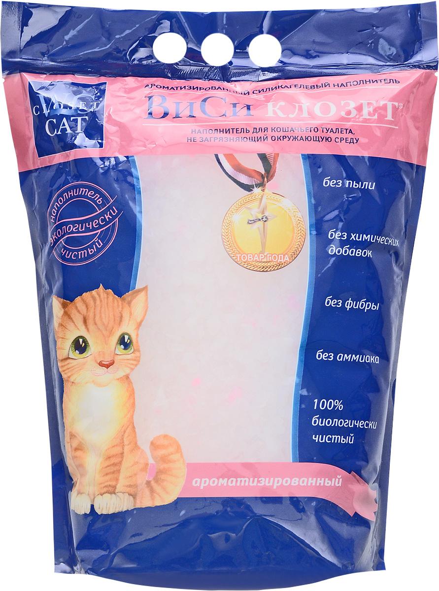 Наполнитель для кошачьего туалета ВиСи Клозет, силикагелевый, ароматизированный, 3,8 л1629Ароматизированный силикагелевый наполнитель для кошачьего туалета ВиСи Клозет изготавливается из 100% натурального биологического вещества с добавлением ароматических гранул. Микроструктура ароматизированного наполнителя поглощает 90% всего объема запаха, быстро впитывает жидкость, препятствует распространению бактерий в лотке. Ароматизированные гранулы сохраняют свежий яблочный аромат в течение всего месяца, что позволяет сохранить воздух в вашем доме чистым и свежим. Наполнитель безопасен для окружающей среды и не вызывает аллергии у людей и животных. Товар сертифицирован.