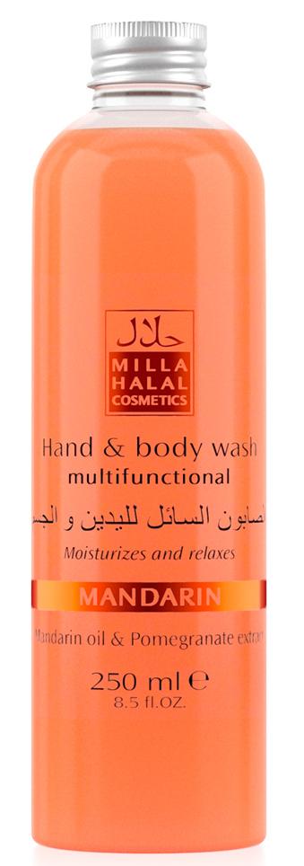 Milla Halal Cosmetics Жидкое мыло для рук и тела с маслом мандарина и экстрактом граната MILLA MANDARIN, 250МЛSatin Hair 7 BR730MN100% натуральный продукт. Создан для бережного ухода за кожей тела при принятии душа или ванны или ежедневном мытье рук. Прекрасно очищает и обладает антибактериальными свойствами. Насыщен натуральными маслами и экстрактами. Имеет приятный аромат.