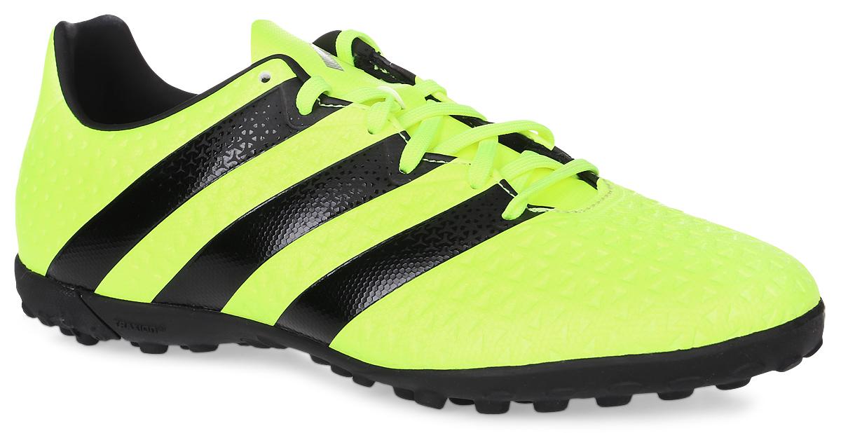 Бутсы мужские Adidas Ace 16.4 tf, цвет: желтый, черный. Размер 10,5 (44)SUPEW.410.PSФутбольные бутсы Adidas Ace 16.4 tf применяются для игры на искусственных полях. Гибкий верх Control Feel обеспечивает прекрасное чувство мяча, делая каждый пас безукоризненным. Подошва Total Control для маневренности и превосходной устойчивости на жестких искусственных покрытиях. Верх бутс выполнен из прочного искусственного материала. Внутри также искусственный материал и текстиль.