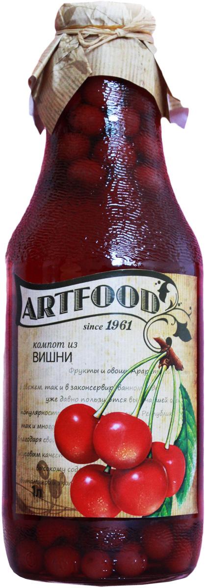 Artfood компот из вишни, 1 л0120710Компот обладает множеством полезных свойств в сравнении с другими жидкостями. В отличие от воды в нём содержатся витамины. От соков компот отличается тем, что не содержит такого обильного количества кислот, которые могут негативно повлиять на желудок