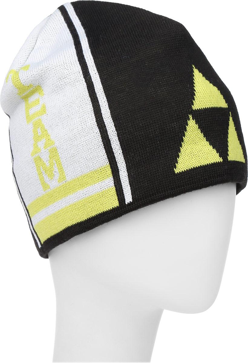 Шапочка лыжная Fischer Team, цвет: черный, желтый, белыйG90515-B/YВязаная лыжная шапочка Fischer Team выполнена на 50% из натуральной шерсти и на 50% из высококачественного акрила. Шапочка украшена полосами и логотипом фирмы по бокам. Шерсть, входящая в состав шапки, делает ее теплой и приятной на ощупь, а акрил придает изделию прочность и износостойкость. Внутри флисовая подкладка. Высота шапочки: 21 см. Обхват головы: 48 см.