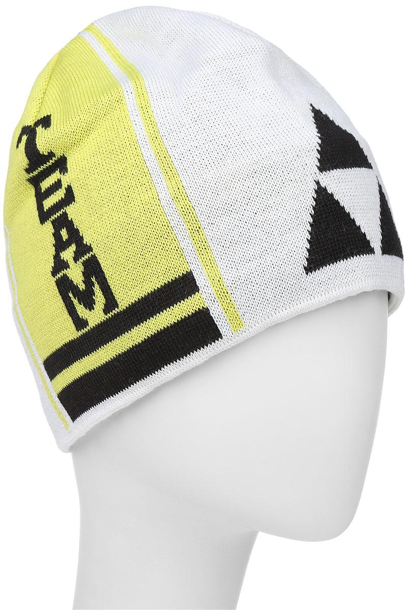 Шапочка лыжная Fischer Team, цвет: белый, черный, желтыйG90515-W/BВязаная лыжная шапочка Fischer Team выполнена на 50% из натуральной шерсти и на 50% из высококачественного акрила. Шапочка украшена полосами и логотипом фирмы по бокам. Шерсть, входящая в состав шапки, делает ее теплой и приятной на ощупь, а акрил придает изделию прочность и износостойкость. Внутри флисовая подкладка. Высота шапочки: 21 см. Обхват головы: 48 см.