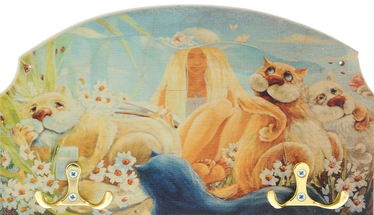 "Вешалка-ключница Miolla ""Кошки"", 25 х 15 см KD-16-2"