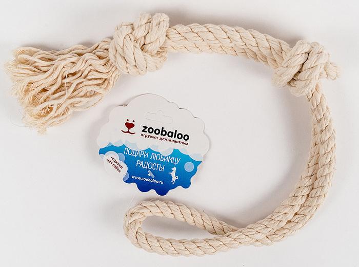 Грейфер для собак Zoobaloo, длина 50 см. 4190120710Классическая игрушка для собак Zoobaloo изготовлена из хлопка высшего качества с узелками посередине и на концах. Натуральная веревка помогает очистить зубы собаки от налета и зубного камня и поддерживать гигиену полости рта. Ее можно жевать, бросать и приносить. Море радости и азарта обеспечено!