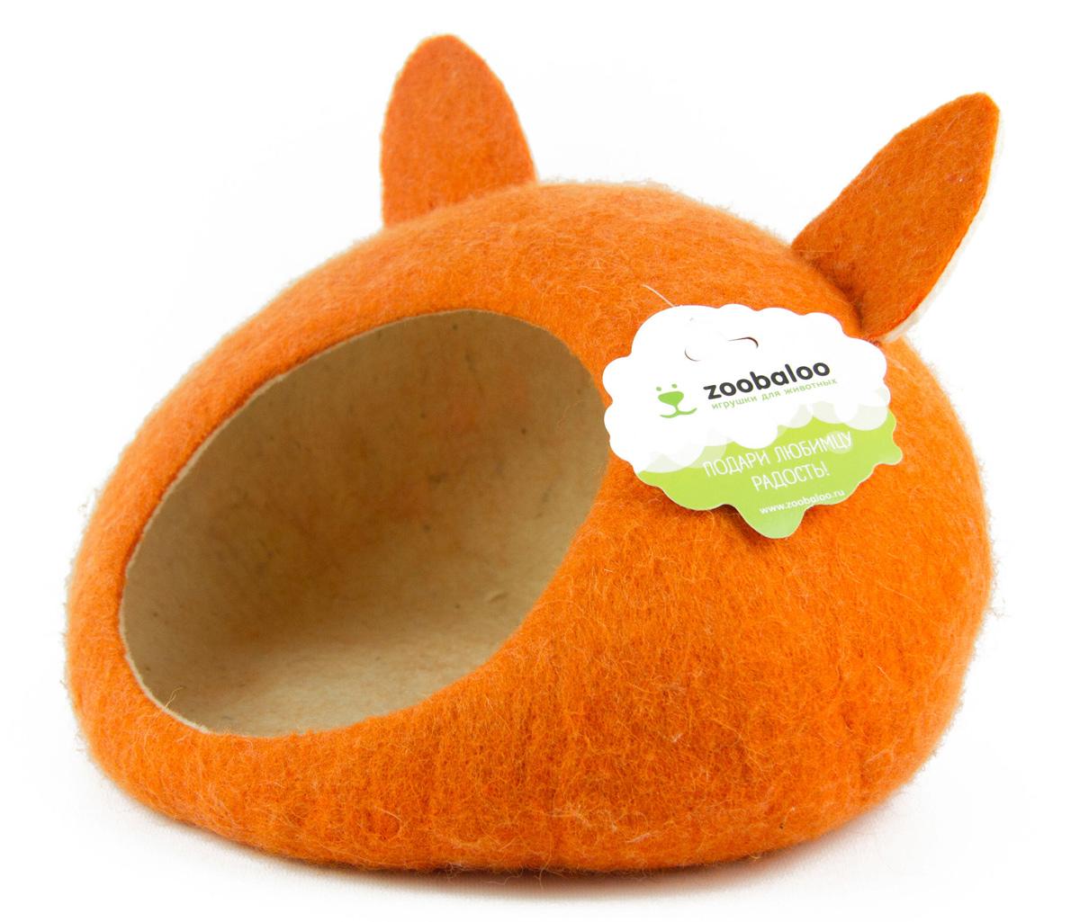 Домик-слипер для животных Zoobaloo WoolPetHouse, с ушками, цвет: оранжевый, размер M893Домик-слипер Zoobaloo WoolPetHouse предназначен для отдыха и сна питомца. Домик изготовлен из 100% шерсти мериноса. Учтены все особенности животного сна: форма, цвет, материал этого домика - все подобрано как нельзя лучше! В нем ваш любимец будет видеть только цветные сны. Шерсть мериноса обеспечит превосходный микроклимат внутри домика, а его форма позволит питомцу засыпать в самой естественной позе.
