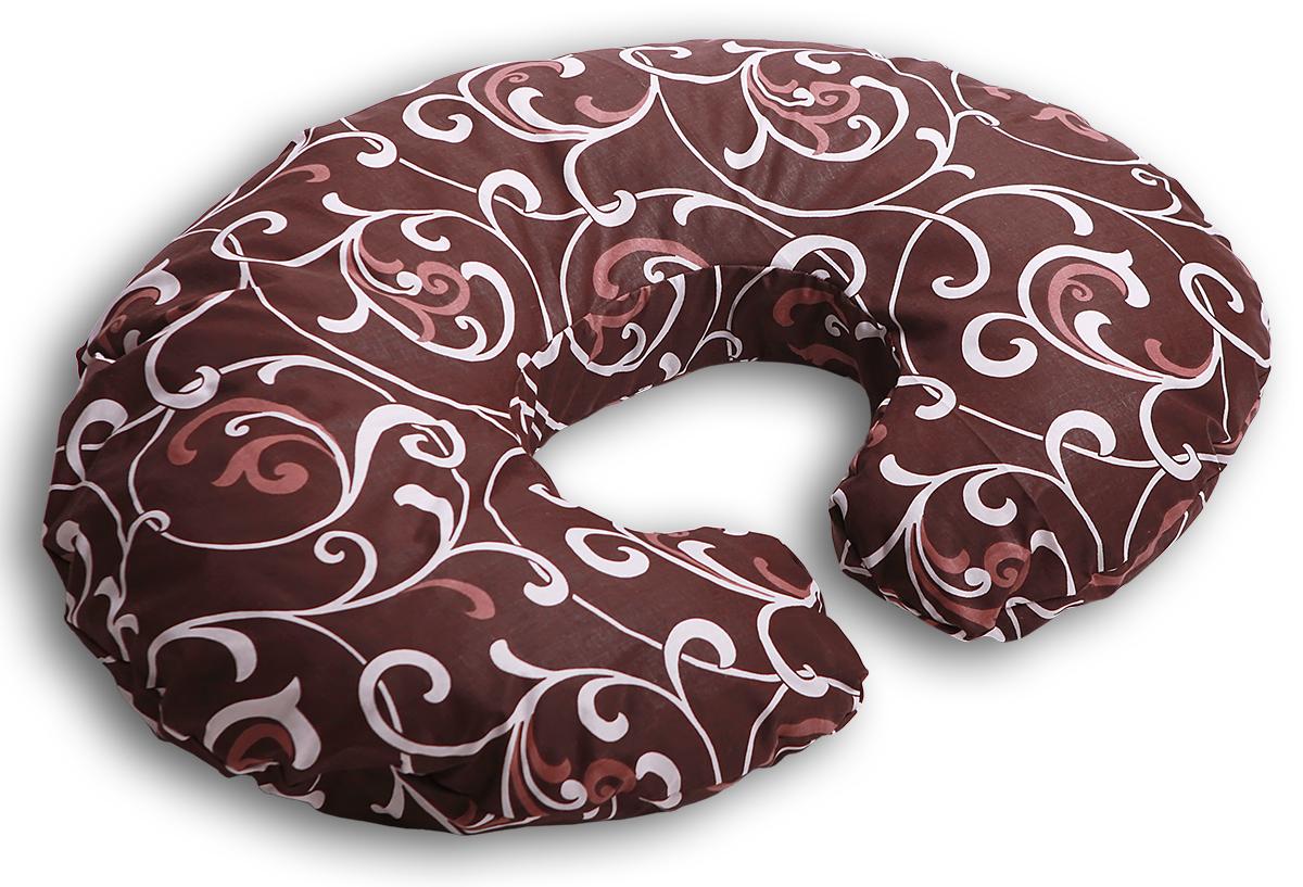 Body Pillow Подушка для беременных и кормящих Рогалик цвет шоколадный