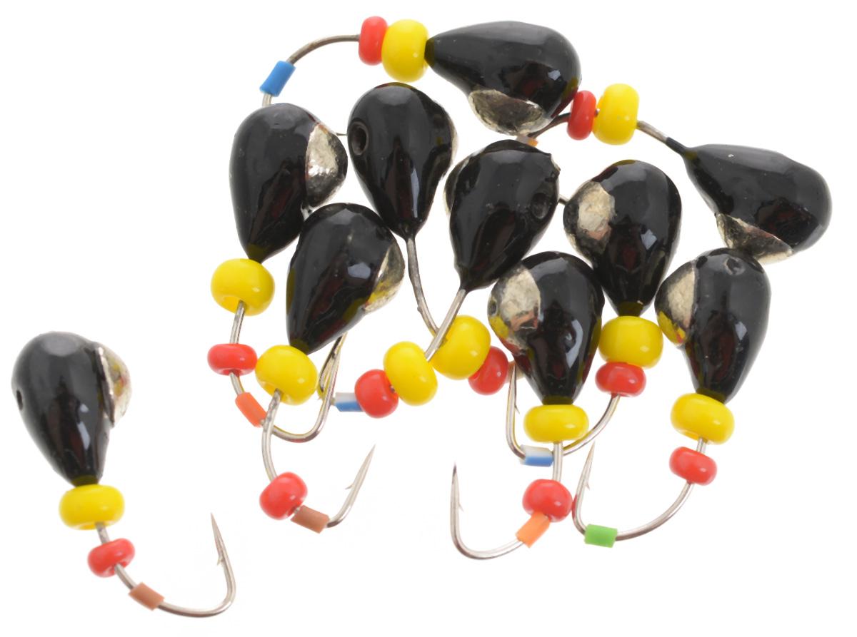 Мормышка вольфрамовая Dixxon Капля, с отверстием, с бисером, диаметр 4,5 мм, 1,4 г, 10 шт. 5937903/1/12Мормышка Dixxon Капля изготовлена из вольфрама и оснащена крючком. Главное достоинство вольфрамовой мормышки - большой вес при малом объеме. Эта особенность дает большие преимущества при ловле, так как позволяет быстро погрузить приманку на требуемую глубину и лучше чувствовать игру мормышки. Подходит для подледной ловли.