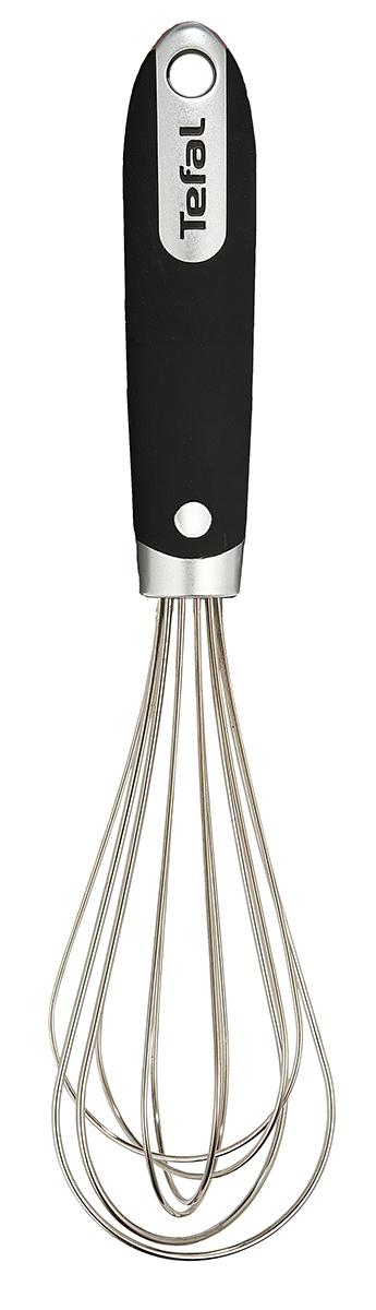 Венчик Tefal Talent, длина 25 см. K0800514K0800514Венчик Tefal Talent изготовлен из нержавеющей стали и предназначен для быстрого взбивания смесей. Удобная ручка, изготовленная из прорезиненного пластика, не позволит выскользнуть венчику из вашей руки, сделает приятным процесс приготовления любого блюда. На ручке имеется небольшое отверстие, за которое изделие можно подвесить в любом удобном для вас месте. Практичный и удобный венчик Tefal Talent займет достойное место среди аксессуаров на вашей кухне. Длина венчика: 25 см. Размер рабочей поверхности: 5,5 х 5,5 х 13 см.