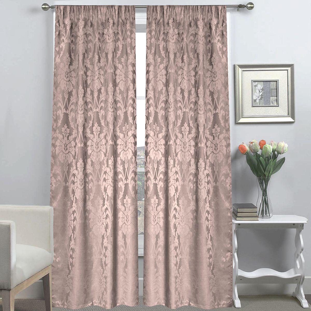 Комплект штор Amore Mio Жаккард, на ленте, цвет: розовый, высота 270 см, 2 шт74228Роскошный комплект штор Amore Mio Жаккард на ленте великолепно украсит любое окно. Комплект из мягкой плотной ткани жаккард с классическим рисунком состоит из двух полотен и имеет классический крой. Шторы органично впишутся в интерьер помещения, они будут долгое время радовать вас и вашу семью. Размер одного полотна: 145 х 270 см.