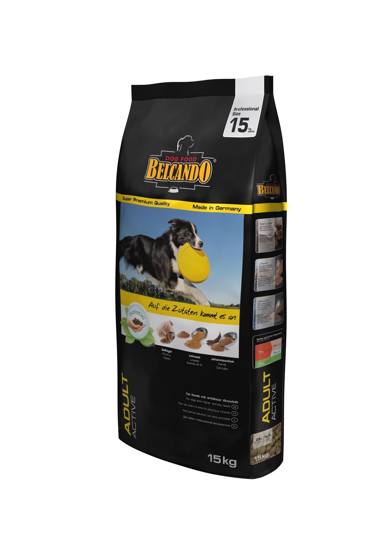 Корм сухой Belcando Adult Activ, для активных собак крупных и средних пород, с индейкой, 15 кг0120710Корм Belcando Adult Activ - полноценный корм для активных собак крупных и средних пород. В состав корма входят плоды рожкового дерева для поддержания работы желудочно-кишечного тракта. Добавлена мука из виноградной косточки для поддержания работы сердца.Корм идеален для активных собак, которым требуется большое количество минеральных веществ и микроэлементов!Сбалансированная энергетическая ценность корма Belcando Adult Active позволяет вашему питомцу оставаться в отличной форме. Легкоусваиваемые жиры и незаменимые аминокислоты улучшают выносливость и физическое состояние.Состав: Сухое мясо птицы пониженной зольности (21,5%); кукуруза; овес; рис; мука сельди (6%); жир домашней птицы; рафинированное растительное масло; цареградский стручок крупного помола (2,5%); вытяжка из виноградной косточки; пивные дрожжи; льняное семя (2,3%); сухой жом; дикальций фосфат; гидролизат печени птицы; поваренная соль; калий хлористый; травы (всего 0,2%: листья крапивы, корень горечавки, золототысячник, ромашка, фенхель, тмин, омела, тысячелистник, листья ежевики); экстракт юкки. Питательные добавки: Витамин А - 13,000 МЕ/кг, Витамин Е - 130 мг/кг, Витамин D3 - 1,300 МЕ/кг, Кальций - 1,3%, Фосфор - 0,9%. Содержание питательных веществ: протеин - 25%, жир - 14,5%, клетчатка - 3,2%, Зола - 7%, Влажность - 10%. Товар сертифицирован.
