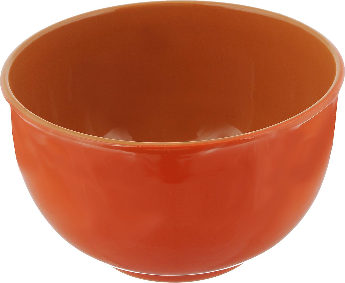 Салатник Борисовская керамика Радуга, цвет: оранжевая, коричневый, 2 лVT-1520(SR)Салатник Борисовская керамика Радуга выполнен из высококачественной глазурованной керамики. Этот большой и вместительный салатник необходим на любом застолье, он идеально подходит для сервировки салатов и закусок. Изделие термостойкое, поэтому его можно использовать для запекания в духовке и микроволновой печи, с последующим хранением в нем приготовленной пищи. Такой яркий салатник отлично дополнит сервировку стола и подчеркнет ваш изысканный вкус.Диаметр (по верхнему краю): 20 см.Высота стенки: 12 см.
