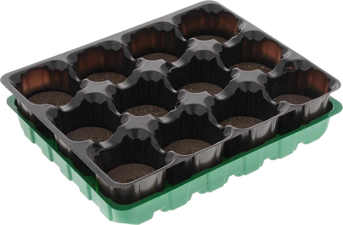 Набор для выращивания рассады Добрая сила, с торфяными таблетками, 12 таблетокDS44140021Набор для выращивания рассады Добрая сила представляет собой пластиковый поддон, куда вкладывается рассадная кассета с торфяными таблетками. Идеально подходит для проращивания семян и укоренения черенков в домашних условиях. В комплекте 12 торфяных таблеток. Размер поддона: 20,5 х 16,5 х 2,5 см. Размер кассеты: 20,5 х 16,5 х 4,5 см. Размер одной ячейки: 4,7 х 4,7 х 4,5 см.