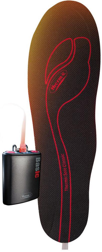 Комплект Therm-IC: стельки с подогревом ThermicSole Classic, батарея PowerPack Basic10100005Стелька с встроенным термоэлементом для обогрева и аккумулятором. Аккумулятор обеспечивает нагрев в течении 8 часов.( 4 аккумулятора / батарейки типа АА( в комплект не входят). Стелька может быть обрезана под любой размер обуви Система обогрева Therm-ic - на сегодняшний день является самой совершенной системой для обогрева ног. Многим спортсменам, любителям зимних видов спорта и активного отдыха знакомы неприятные ощущения холода в ногах. Замерзшие ноги и пальцы, это не только дискомфорт для всего тела, но также, нарушение нормальной циркуляции крови и, как следствие, повышенная опасность получить травму, так как, холодные мышцы больше подвержены повреждениям, чем разогретые. Со стельками с подогревом Therm-ic, вы решите эту проблему раз и навсегда! Благодаря технологиям Therm-ic, вы можете забыть о холоде и заниматься спортом в любую погоду, при любой минусовой температуре!