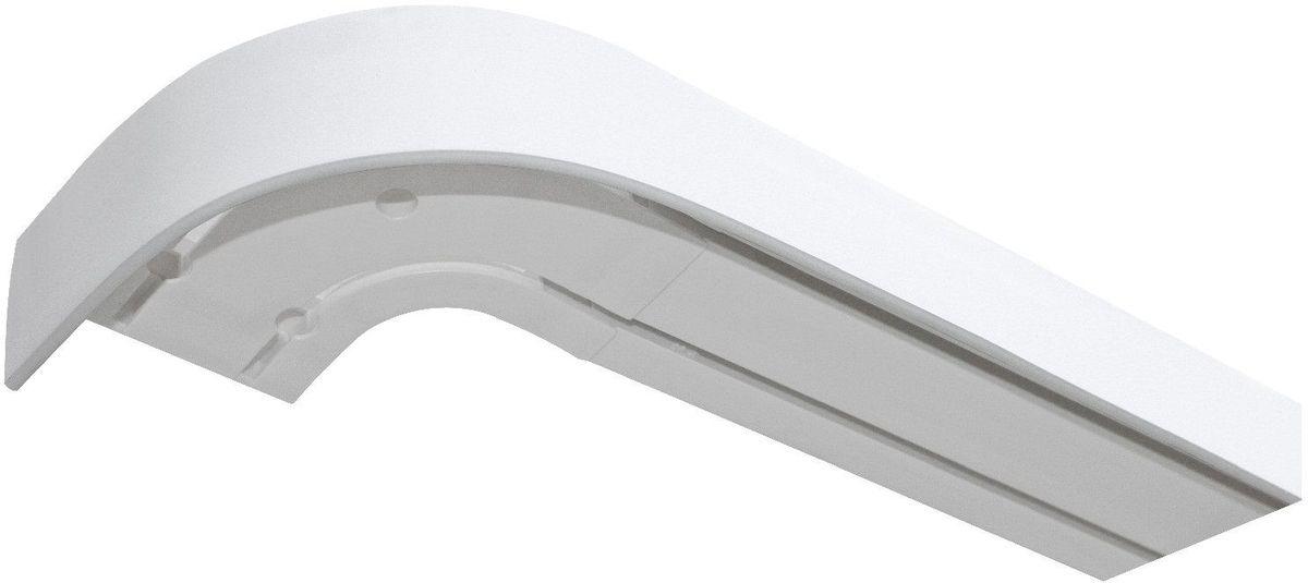 Багет Эскар, цвет: белый, 5 х 350 см29008350Багет Эскар представляет собой изготовленную из поливинилхлорида (ПВХ) полую пластину, применяющуюся как потолочный карниз. Багет для карниза крепится к карнизным шинам. Благодаря багетному карнизу, от взора скрывается верхняя часть штор (шторная лента, крючки), тем самым придавая окну и интерьеру в целом изысканный вид и шарм.