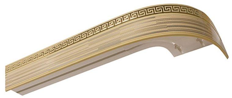Багет Эскар Золото Зебрано Греция, цвет: светлая подложка, золотистый, 5 см х 240 см290322240Багет для карниза крепится к карнизным шинам. Благодаря багетному карнизу, от взора скрывается верхняя часть штор (шторная лента, крючки), тем самым придавая окну и интерьеру в целом изысканный вид и шарм. Вы можете выбрать багетные карнизы для штор среди широкого ассортимента багета Российского производства. У нас множество идей использования багета для Вашего интерьера, которые мы готовы воплотить! Грамотно подобранное оформление – ключ к превосходному результату!!!