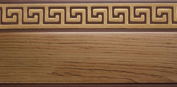 Багет Эскар Кедр Греция, цвет: темная подложка, золотистый, 5 см х 290 см290343290Багет для карниза крепится к карнизным шинам. Благодаря багетному карнизу, от взора скрывается верхняя часть штор (шторная лента, крючки), тем самым придавая окну и интерьеру в целом изысканный вид и шарм. Вы можете выбрать багетные карнизы для штор среди широкого ассортимента багета Российского производства. У нас множество идей использования багета для Вашего интерьера, которые мы готовы воплотить! Грамотно подобранное оформление – ключ к превосходному результату!!!