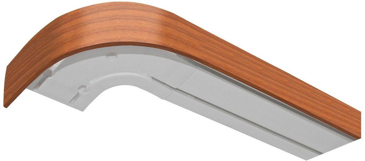 Багет Эскар, цвет: вишня, 5 х 240 см29320240Багет Эскар представляет собой изготовленную из поливинилхлорида (ПВХ) полую пластину, применяющуюся как потолочный карниз. Багет для карниза крепится к карнизным шинам. Благодаря багетному карнизу, от взора скрывается верхняя часть штор (шторная лента, крючки), тем самым придавая окну и интерьеру в целом изысканный вид и шарм.