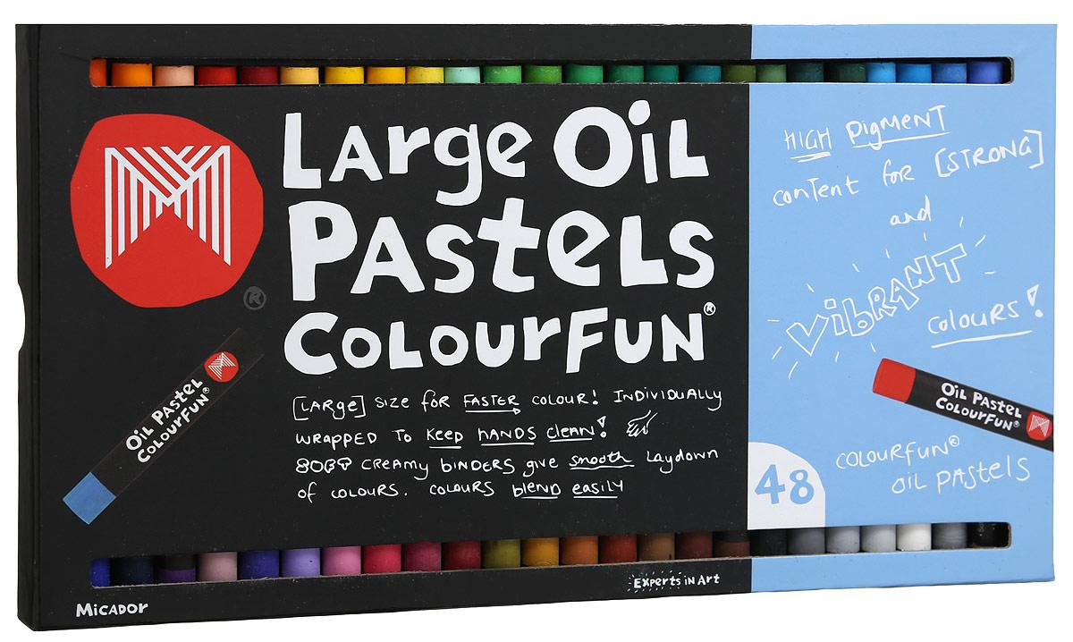Micador Масляные пастельные мелки 48 цветовOPM648Весело, ярко, мягко и безопасно рисуем по любой поверхности! Масляные пастельные мелки Micador - необычная палитра, наполненная стильными оттенками. Мелки дают глубокий, насыщенный цвет и красивую фактуру, отличаются от других мелков высокой упругостью и эластичностью. Каждый мелок обернут бумагой, чтобы ручки малыша не пачкались, легко смываются водой, что обязательно оценят родители. Мелки гипоаллергенные, не содержат токсичных веществ, полностью безопасны для маленьких детей. Рисование развивает творческие способности, воображение, логику, память, мышление. Состав мелка: карбонат кальция, стеариновая кислота, минеральное масло, пальмовое масло, диоксид титана, краситель, воск, вазелин.