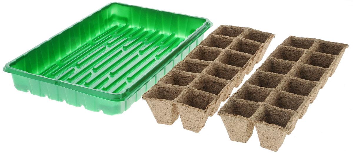 Набор для выращивания рассады Добрая сила, с торфяными горшочками, 24 ячейкиDS44140031Набор для выращивания рассады Добрая сила представляет собой пластиковый поддон, куда вкладываются рассадные кассеты. Идеально подходит для проращивания семян и укоренения черенков в домашних условиях. В комплекте 24 торфяные ячейки. Размер поддона: 36 х 23 х 4,5 см. Размер одной ячейки: 4,2 х 4,2 х 4 см.