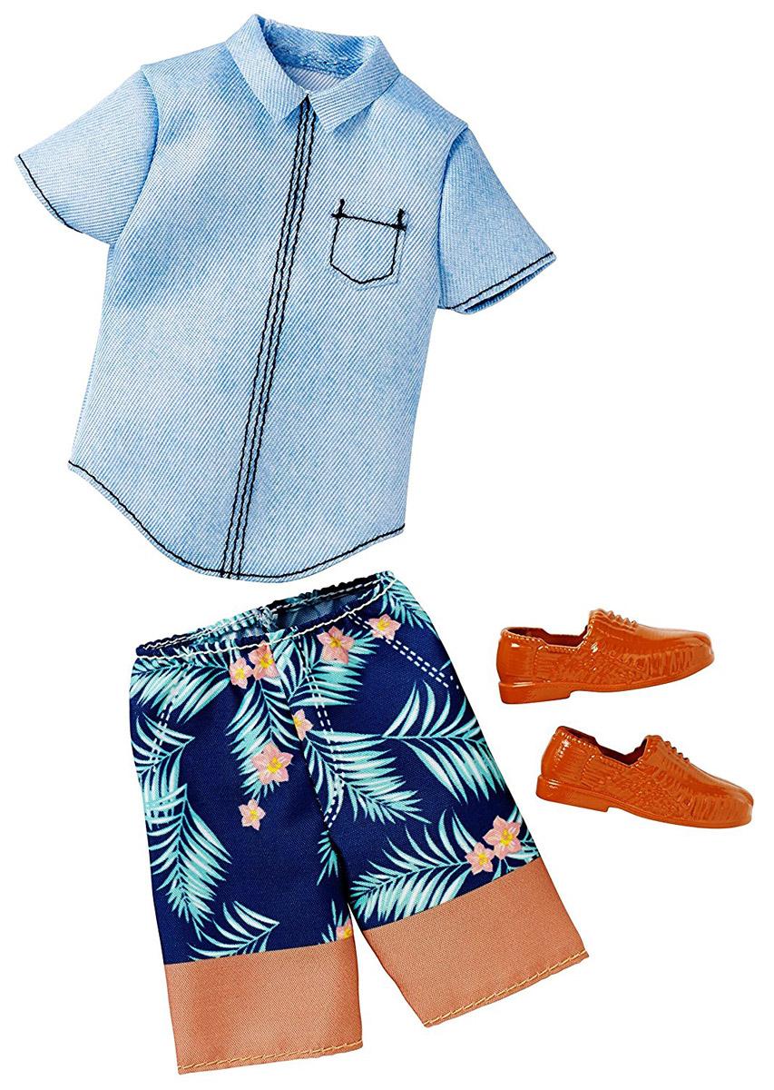 Barbie Одежда для Кена Джинсовая рубашка и бриджи CFY02_DWG76