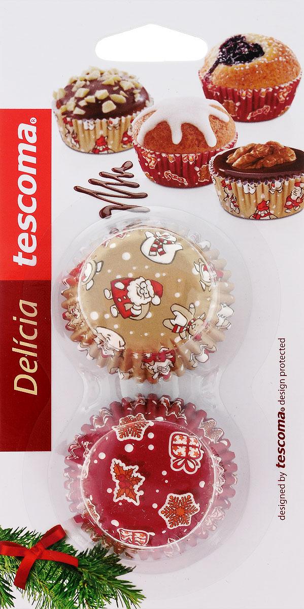 """Форма для выпечки Tescoma """"Delicia. Корзинка. Рождественские мотивы"""", диаметр 4 см, 100 шт"""