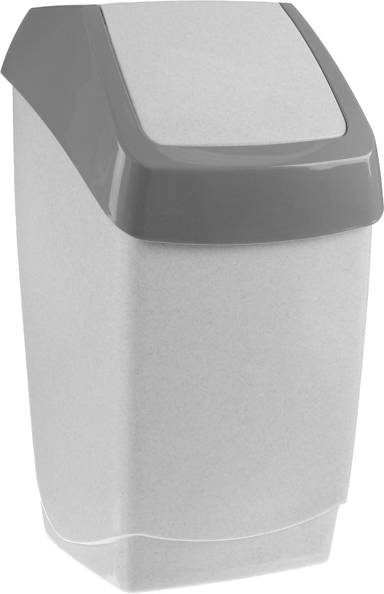 Контейнер для мусора Idea Хапс, цвет: серый мрамор, 25 лМ 2472_серый мраморКонтейнер для мусора Idea Хапс изготовлен из прочного полипропилена (пластика). Контейнер снабжен удобной съемной крышкой с подвижной перегородкой. Благодаря лаконичному дизайну, контейнер идеально впишется в интерьер и дома, и офиса.