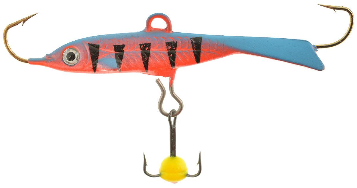 Балансир Dixxon Flipper, цвет: оранжевый, синий, черный, длина 4,8 см, 8 г. 5861103/1/12Балансир Dixxon Flipper удлиненной формы c тремя крючками предназначен для ловли рыб со льда. Изделие, изготовленное из прочного металла, оснащено тройным крючком и высококачественными впаянными крючками. Форма этого балансира напоминает мелкую рыбку. Балансир окрашен в яркие цвета, что делает его более заметным и позволяет привлечь рыбу с более дальнего расстояния.