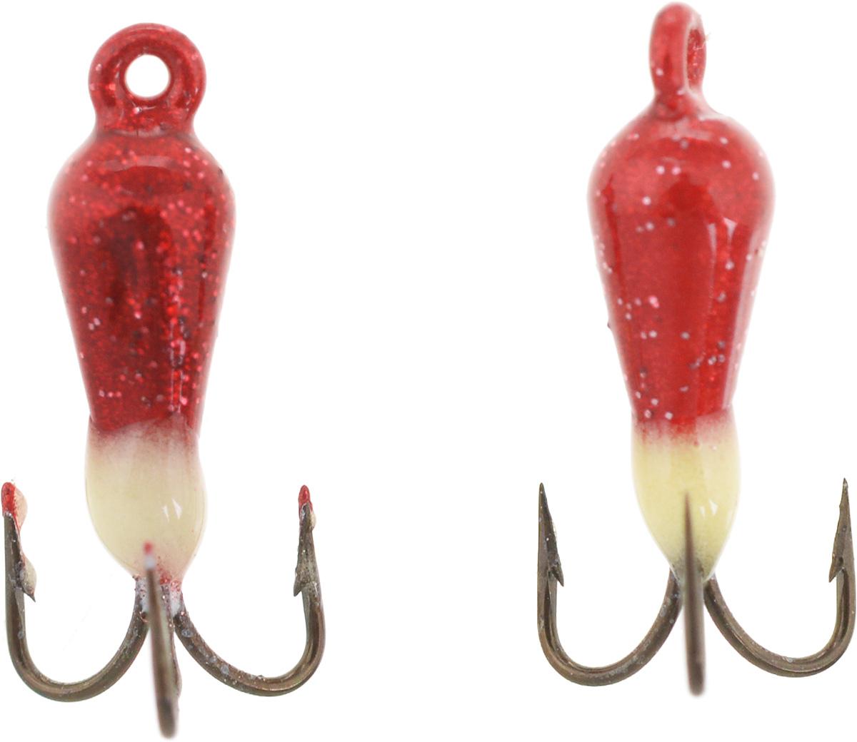 Чертик вольфрамовый Finnex, цвет: рубиновый, белый, 0,38 г, 2 шт10948Вольфрамовый чертик Finnex - одна из самых популярных приманок для ловли леща, плотвы и другой белой рыбы. Особенно хорошо работает приманка на всевозможных водохранилищах. Не пропустит ее и другая рыба, в том числе окунь, судак и щука.