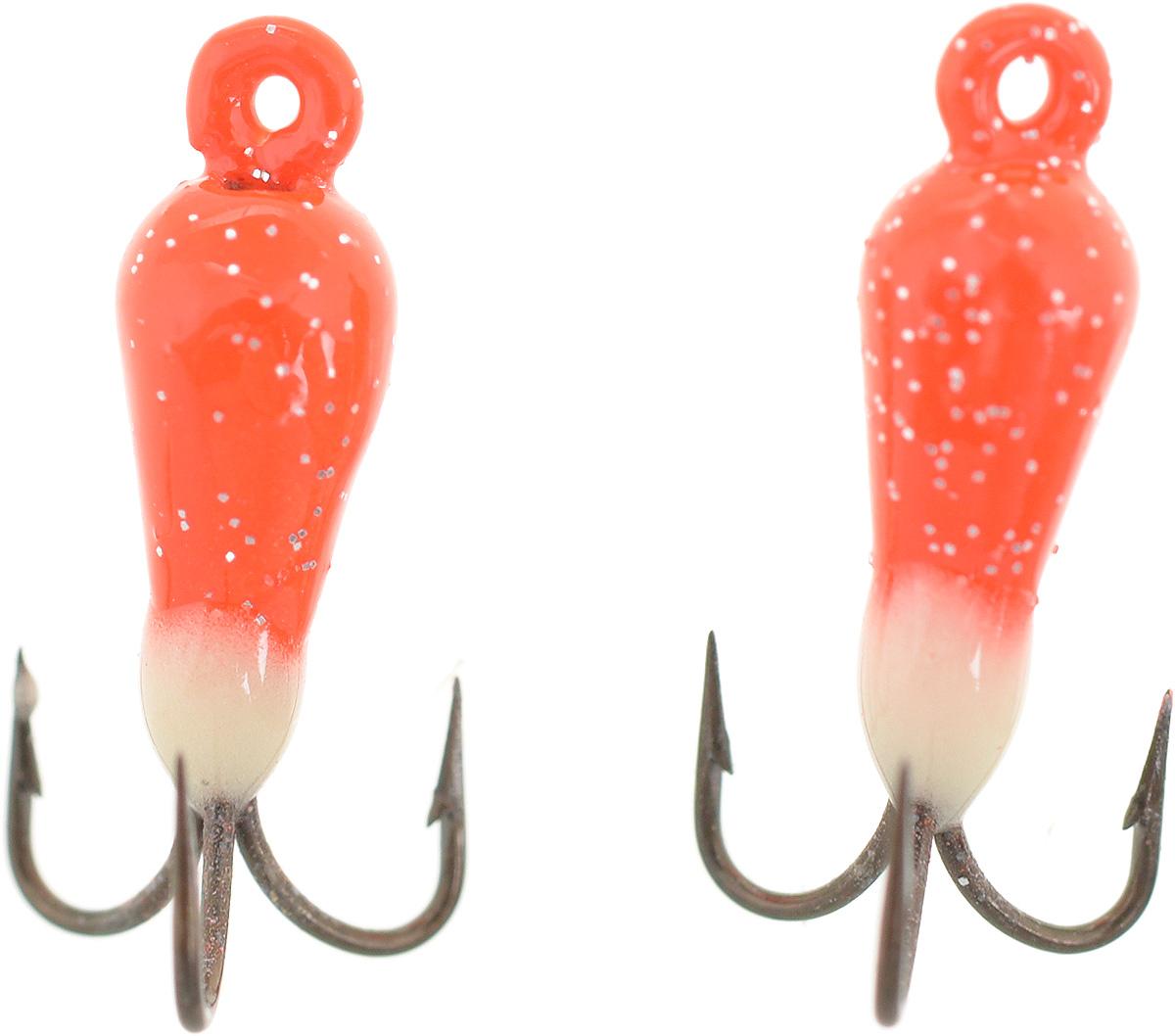 Чертик вольфрамовый Finnex, цвет: оранжевый, белый, 0,38 г, 2 шт03/1/12Вольфрамовый чертик Finnex - одна из самых популярных приманок для ловли леща, плотвы и другой белой рыбы. Особенно хорошо работает приманка на всевозможных водохранилищах. Не пропустит ее и другая рыба, в том числе окунь, судак и щука.