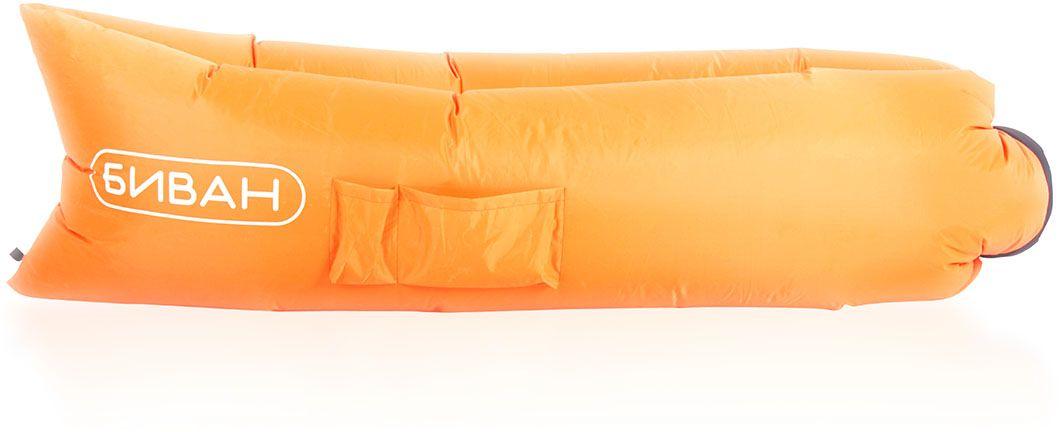 """Диван надувной """"Биван"""", цвет: оранжевый, черный, 200 х 90 см 8001"""