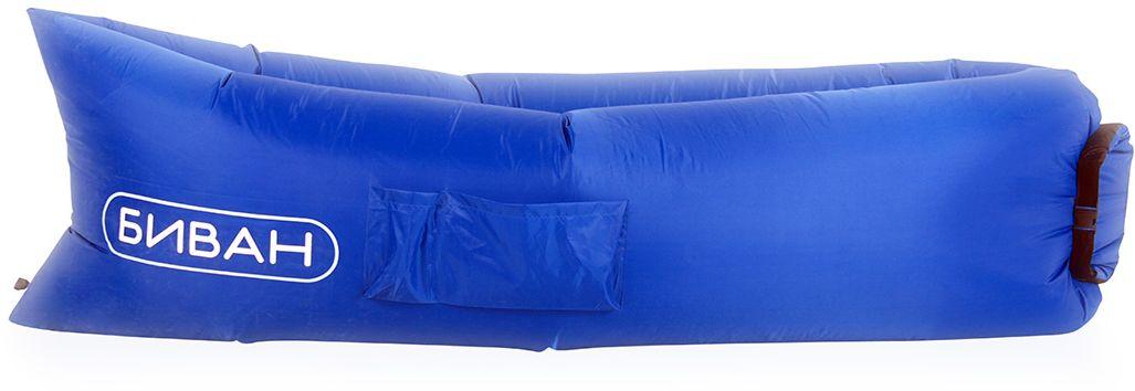 Биван оригинальный, надувной диван, цвет: синий, 200 х 90 см 8007
