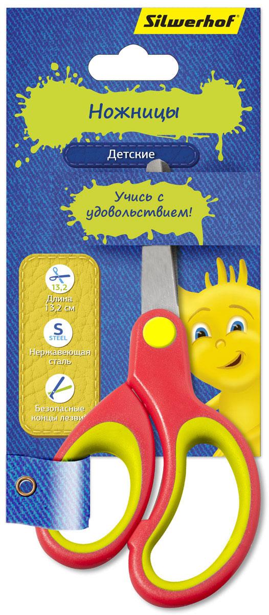 Silwerhof Ножницы детские Джинсовая коллекция цвет коралловый 13,2 см453086_коралловыйДетские ножницы Silwerhof Джинсовая коллекция прекрасно подойдут для детского творчества. Лезвия выполнены из нержавеющей стали с закругленными концами, что делает процесс работы с ними безопасным для ребенка. Благодаря эргономичной форме пластиковых ручек модель отлично ложится как в детскую, так и во взрослую руку. Ножницы хорошо справляются с резкой бумаги, картона и станут незаменимым помощником в процессе создания аппликаций и других поделок.