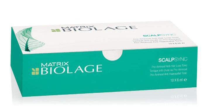 Matrix Biolage Scalpsync набор ампул против выпадения волос 10 х 6 млURU02587Тоник Biolage SCALPSYNC™ (Скалпсинк) укрепляет корни волос, продлевая жизненный цикл волос. Уменьшает выпадение волос до 5%* после 6 недель использования. - Питает кожу головы, помогая продлить жизненный цикл волоса - Придаёт волосам здоровый вид и ощущение свежести. *Клинические исследования действия тоника в сравнении с плацебо на 130 участниках в течение 6 недель.