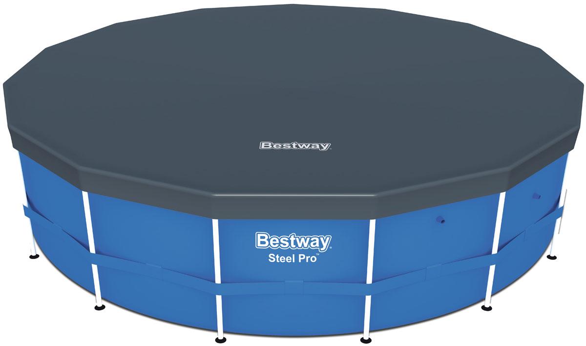 Bestway Тент для каркасных бассейнов, 470 см09840-20.000.00Изготовлено из полимерных материалов. В комплекте шнуры для крепления. Специальные дренажные отверстия помогают избегать скопления воды на поверхности.