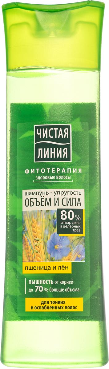 Чистая Линия Шампунь для тонких и ослабленных волос На отваре льна и целебных трав Объём и сила 400 мл