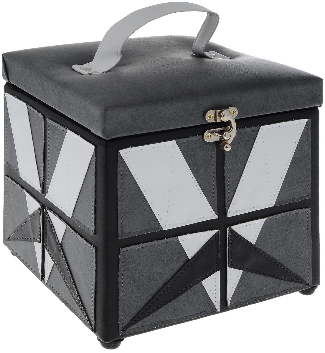 """Шкатулка для рукоделия Grace & Glamour """"Геометрия"""", 20 х 20 х 20,5 см. BN3689"""