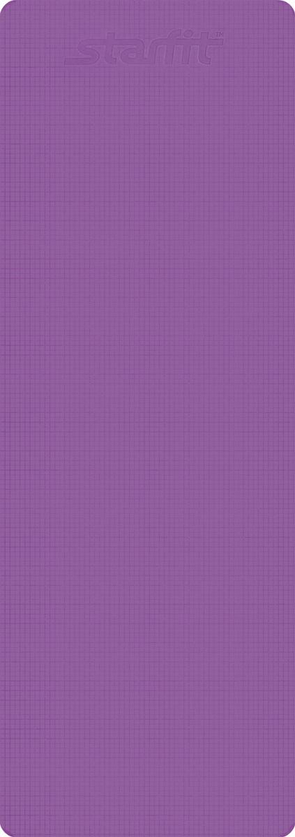 Коврик для йоги Starfit FM-101, цвет: фиолетовый, 173 х 61 х 0,6 смУТ-00008836Коврик для йоги Star Fit FM-101 - это незаменимый аксессуар для любого спортсмена как во время тренировки, так и во время пре-стретчинга (растяжки до тренировки) и стретчинга (растяжки после тренировки). Выполнен из высококачественного ПВХ. Коврик используется в фитнесе, йоге, функциональном тренинге. Его используют спортсмены различных видов спорта в процессе своей тренировки. Предпочтительно использовать изделие без обуви. Если процесс тренировки проходит в обуви, то желательно с мягкой подошвой, чтобы избежать разрыва поверхности коврика.