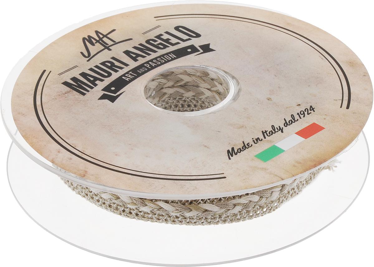 Лента кружевная Mauri Angelo, цвет: серый, белый, 1,3 см х 10 мMR8861/1Декоративная кружевная лента Mauri Angelo - текстильное изделие без тканой основы, в котором ажурный орнамент и изображения образуются в результате переплетения нитей. Кружево применяется для отделки одежды, белья в виде окаймления или вставок, а также в оформлении интерьера, декоративных панно, скатертей, тюлей, покрывал. Главные особенности кружева - воздушность, тонкость, эластичность, узорность. Декоративная кружевная лента Mauri Angelo станет незаменимым элементом в создании рукотворного шедевра. Ширина: 1,3 см. Длина: 10 м.
