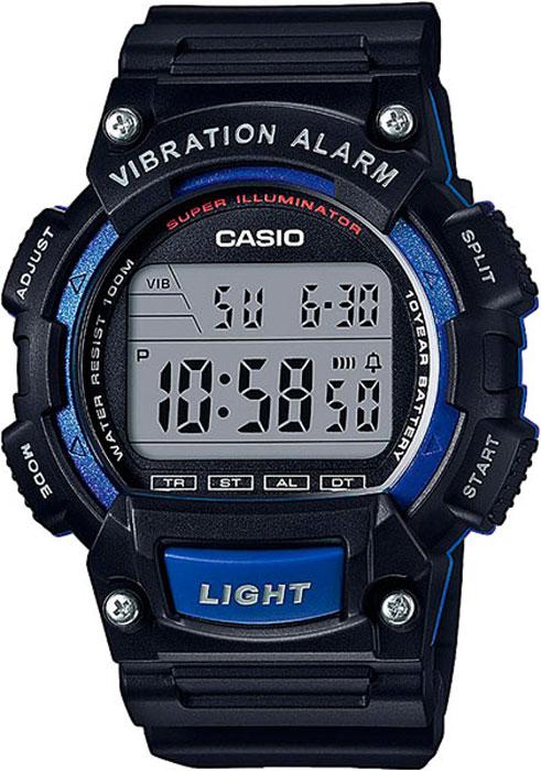 Часы наручные Casio Collection, цвет: черный, синий. W-736H-2AW-736H-2A