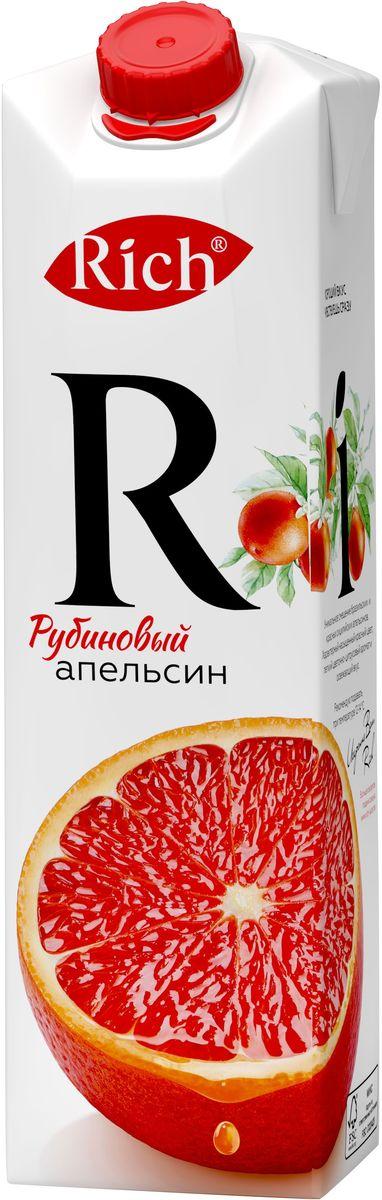 Rich Рубиновый Апельсин нектар, 1 л0120710Уникальное сочетание бразильских и красных сицилийских апельсинов. Характерный насыщенный красный цвет, легкий цветочно-цитрусовый аромат и элегантное послевкусие.Строгий отбор сочных и свежих фруктов, постоянный контроль производства и готовой продукции - составляющие безупречного качества соков и нектаров Rich, высокие стандарты которого всегда соблюдались с момента запуска на российском рынке.Но что действительно отличает продукцию под маркой Rich - это изысканный, многогранный вкус, рождающийся благодаря сочетанию разных сортов одного фрукта в соках и нектарах.