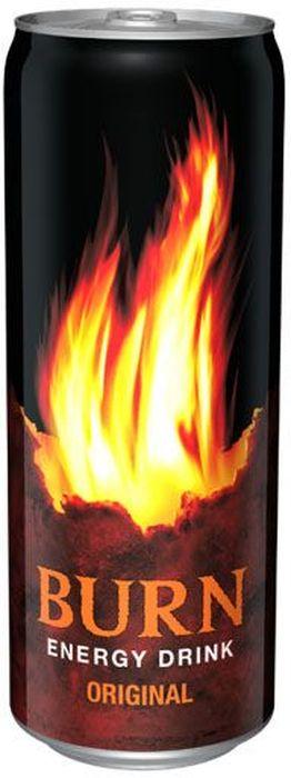 Burn Original энергетический напиток, 0,33 л0120710Burn - это источник энергии для активной жизни 24/7. В состав Burn входят три важных компонента - кофеин, таурин и гуарана, которые помогают снизить усталость, поддерживают работоспособность и концентрацию внимания. Burn - энергетический напиток, который позволяет постоянно находиться в движении, все успевать, быть в курсе самых жарких событий, творить, выдумывать, пробовать. Это энергия в новом формате в любое время от рассвета до рассвета!