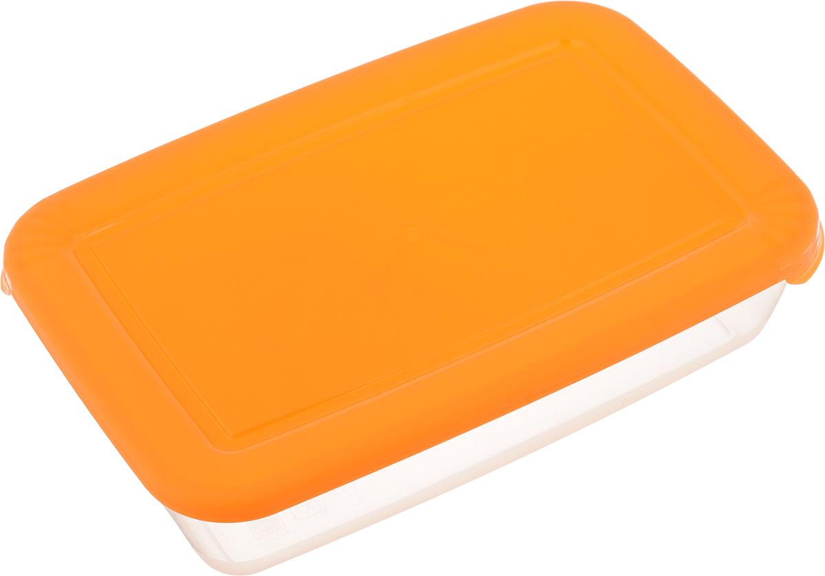 Контейнер для СВЧ Полимербыт Лайт, цвет: оранжевый, 900 мл552_оранжевыйПрямоугольный контейнер для СВЧ Полимербыт Лайт изготовлен из высококачественного полипропилена, устойчивого к высоким температурам (до +120°С). Яркая цветная крышка плотно закрывается, дольше сохраняя продукты свежими и вкусными. Контейнер идеально подходит для хранения пищи, его удобно брать с собой на работу, учебу, пикник или просто использовать для хранения пищи в холодильнике. Можно использовать в микроволновой печи и для заморозки в морозильной камере при минимальной температуре -40°С. Можно мыть в посудомоечной машине.