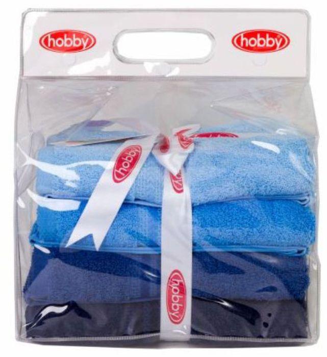 Набор полотенец Hobby Home Collection Rainbow, цвет: голубой, синий, темно-синий, 50 х 90 см, 4 шт1501001192Набор Hobby Home Collection Rainbow состоит из четырех махровых полотенец, выполненных из натурального 100% хлопка. Изделия мягкие, отлично впитывают влагу, быстро сохнут, сохраняют яркость цвета и не теряют форму даже после многократных стирок. Полотенца Hobby Home Collection Rainbow очень практичны и неприхотливы в уходе. Они легко впишутся в любой интерьер благодаря своей нежной цветовой гамме. Размер полотенец: 50 х 90 см.