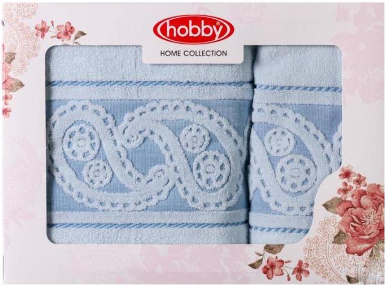 Полотенце махровое Hobby Home Collection Hurrem, цвет: голубой, 50х90 см, 70х140 см, 2 шт1501001222Полотенца марки Хобби уникальны и разрабатываются эксклюзивно для данной марки. При создании коллекции используются самые высокотехнологичные ткацкие приемы. Дизайнеры марки украшают вещи изысканным декором. Коллекция линии соответствует актуальным тенденциям, диктуемым мировыми подиумами и модой в области домашнего текстиля.