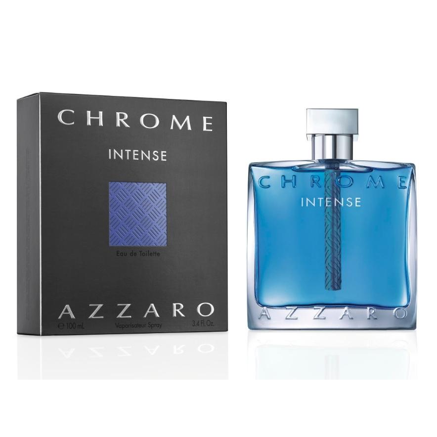 Azzaro Chrome Intense Туалетная вода мужская, 50 млперфорационные unisexАроматические, фужерные. Амбра, бобы тонка, бренди, ветивер, корица