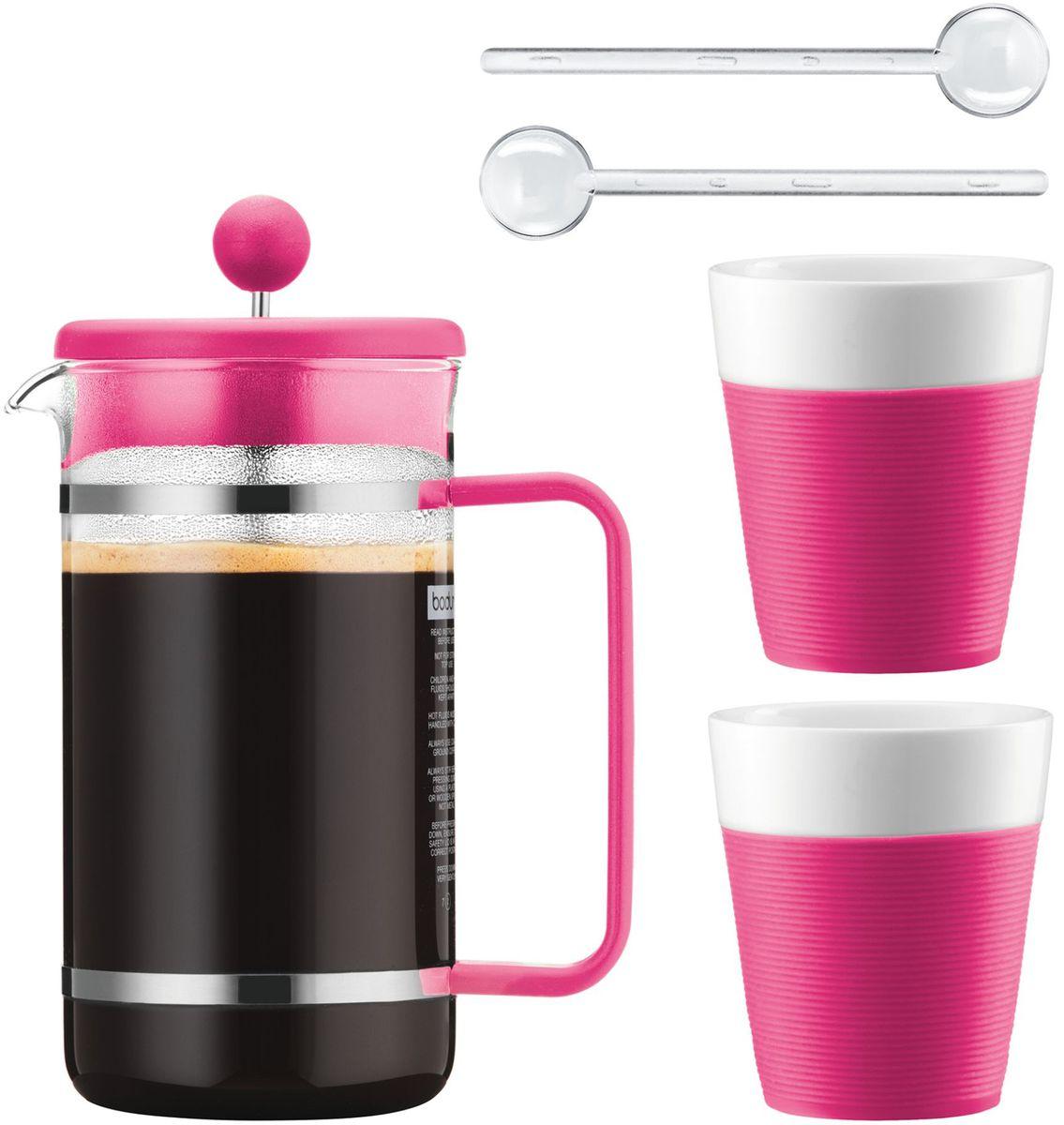 Набор кофейный Bodum Bistro, цвет: розовый, 5 предметов. AK1508-634-Y15AK1508-634-Y15
