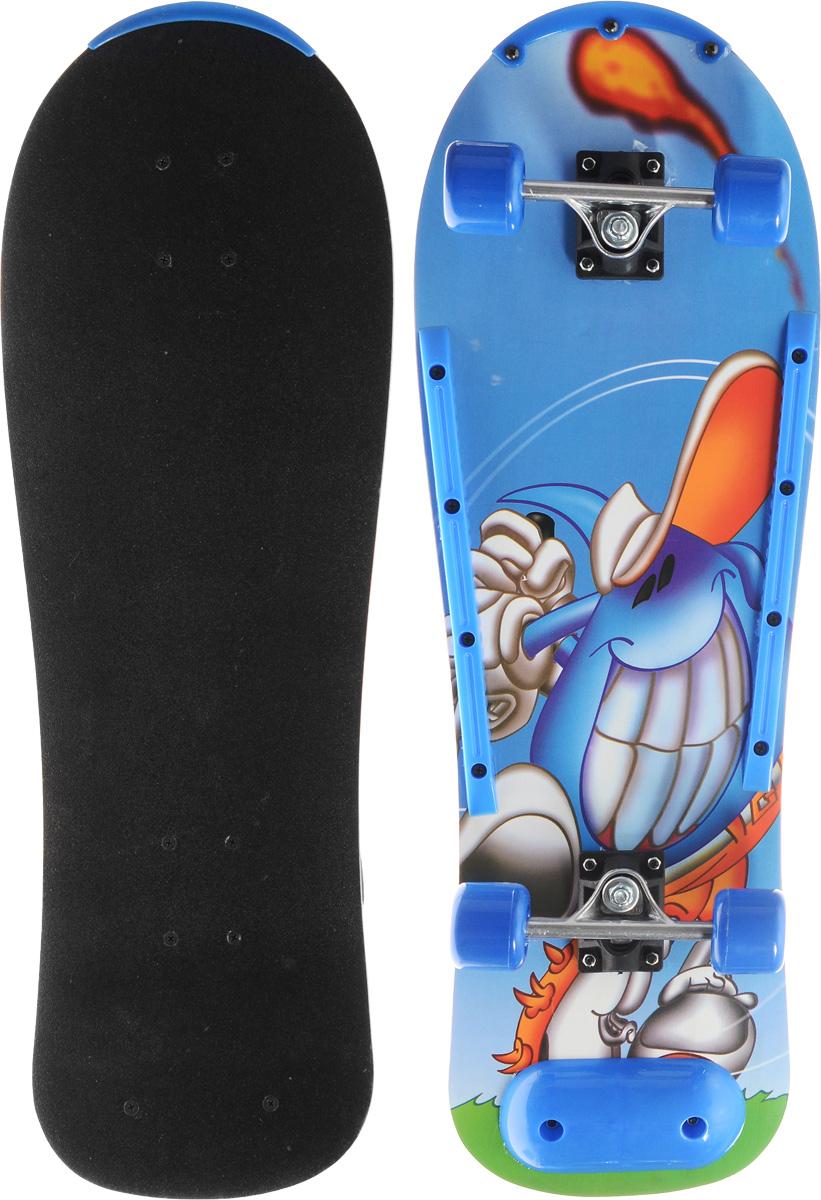 Скейтборд Action, дека 76 см х 25. SHЕ-55SHЕ-55Скейтборд Action - отличный выбор для начинающих и опытных скейтбордистов, а также для людей, любящих активно проводить время. Скейтборд изготовлен из натурального клена, имеет прочную алюминиевую подвеску. Дека покрыта слоем, который позволяет ногам не соскальзывать с доски и выполнять различные трюки. В последнее время экстремальные виды спорта, такие как катание на скейтборде, становятся очень популярными. Скейтбординг - это зрелищный и экстремальный вид спорта, представляющий собой катание на роликовой доске с преодолением препятствий и выполнением различных трюков.