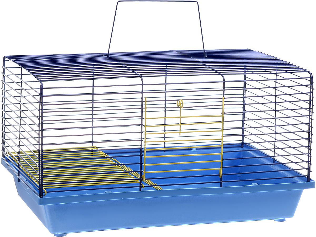 Клетка для хомяка ЗооМарк, 2-этажная, цвет: синий поддон, синяя решетка, 36 х 23 х 20 см111ССДвухэтажная клетка ЗооМарк, выполненная из полипропилена и металла, подходит для хомяков или других небольших грызунов. Она имеет яркий поддон, удобна в использовании и легко чистится. Такая клетка станет уединенным личным пространством и уютным домиком для маленького грызуна.