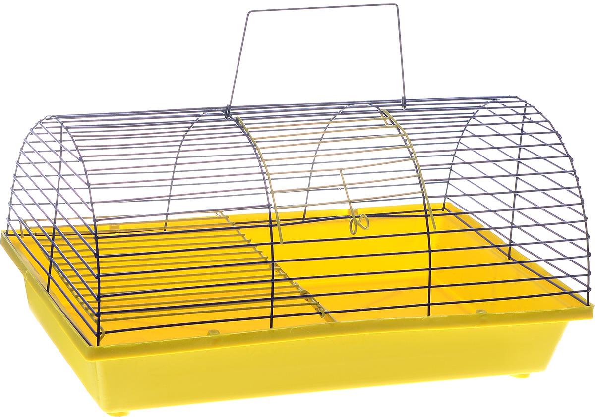 Клетка для грызунов ЗооМарк, цвет: желтый поддон, синяя решетка, 36 х 23 х 17,5 см0120710Клетка ЗооМарк, выполненная из полипропилена и металла, подходит для грызунов. Она имеет яркий поддон, удобна в использовании и легко чистится. Клетка оснащена вторым ярусом с лесенкой, выполненных из металла.Такая клетка станет уединенным пространством и уютным домиком для маленького грызуна.